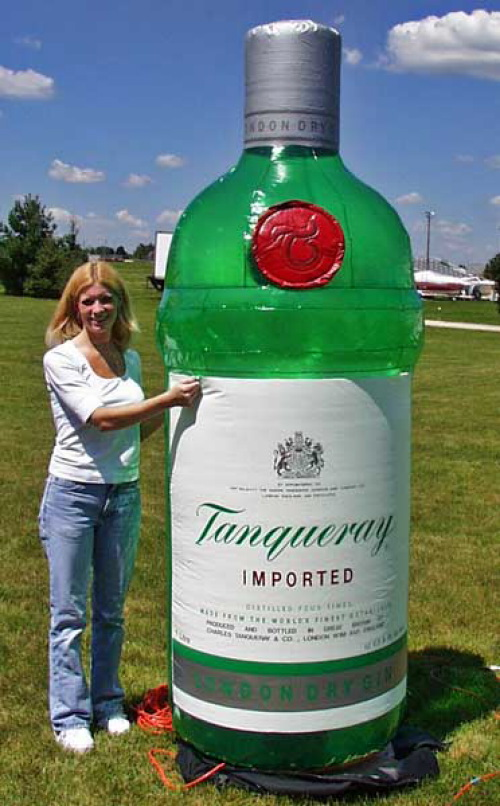 Inflatable Cans And Bottles Tanqueray